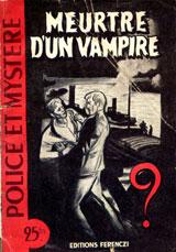 Limat, Maurice. Meurtre d'un vampire