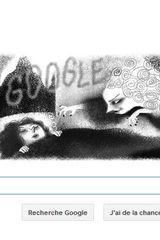 Google Doodle pour les 200 ans de Sheridan Le Fanu