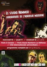 Le Studio Hammer : laboratoire de l'horreur moderne. 10-11-12 juin à Paris - (09/06/2015)
