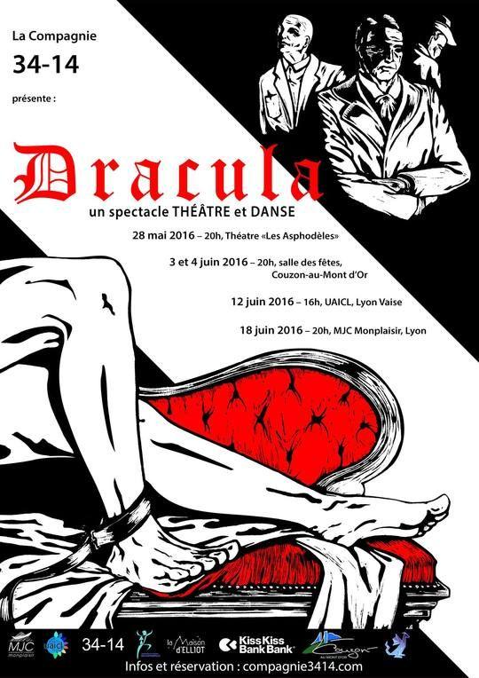 La compagnie 34-14 porte Dracula... sur les planches !