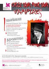 Conférence à Bruxelles le 20/01/2017 : Histoire du vampire en littérature - (09/01/2017)