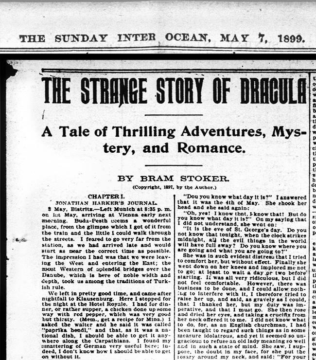 (Re-)Découverte d'une ancienne sérialisation américaine de Dracula