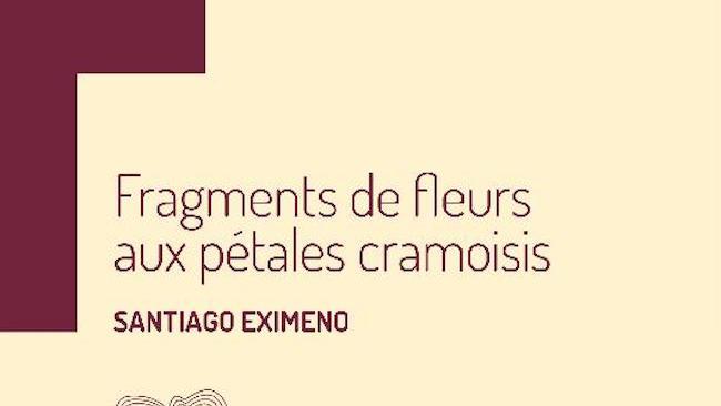 Eximeno, Santiago. Fragments de fleurs aux pétales cramoisis