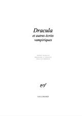 Dracula, Carmilla et Ruthven… rejoignent la Pléiade