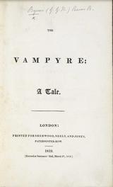 Il y a 200 ans : publication du Vampyre de Polidori